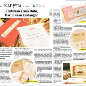 Ikapesta News with Suara merdeka. Article : Invitation  Suara merdeka , 12 Maret 2017  @ings_card @fothelocraft @astinacard @artecardinvitation #120317