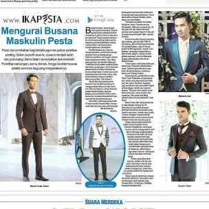 Ikapesta News with Suara merdeka. Article : Jas Pengantin Suara merdeka , 15 April 2017  @blackcode_tailor @dany_ariyanta @eropah_tailor @sas_bataviajas