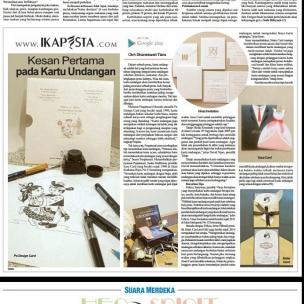 Ikapesta News with Suara merdeka. Article : Kartu Undangan Suara merdeka , 18 Juni 2017 @sasaundangan @sisters_card @tatajecard @vinasinvitation