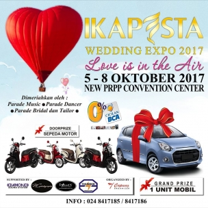 Save the date !!! Ikapesta Wedding Expo 2. 5-8 okt 2017 PRPP Semarang  Supported by: @diamondsoundsystem @nathanaelcalvinphotography  @friendsphotovideo  @thunder_production  Organized by : EO Capung