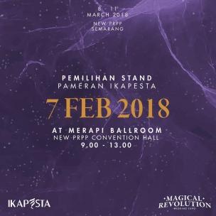 Jangan sampai terlewat untuk semua anggota Ikapesta! . Catat tanggalnya dan mari sukseskan IKAPESTA WEDDING Expo 2018 . 7 Februari 2018 09.00 – 13.00 Merapi ballroom, New PRPP Convention Hall#iloveikapesta