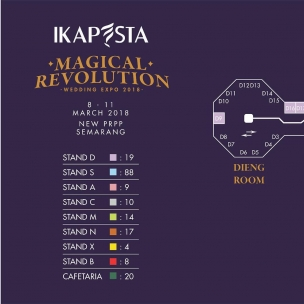 Layout IKAPESTA Wedding Expo 2018 . SAVE THE DATE 8 – 11 Maret 2018 New PRPP convention hall#ikapesta2018