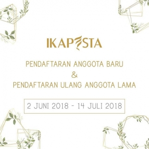 Don't miss it!! . . Pendaftaran untuk anggota baru dan daftar ulang telah dibuka . . Cek www.ikapesta.com untuk info lebih lanjut
