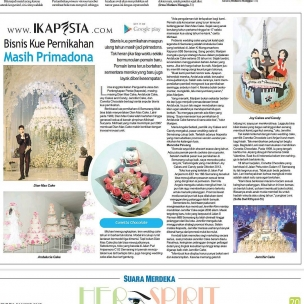 Ikapesta News with Suara merdeka. Article : Wedding Cake  @andalucia_cake @dianmascake @joycakes_candy @chocoballs_conetta
