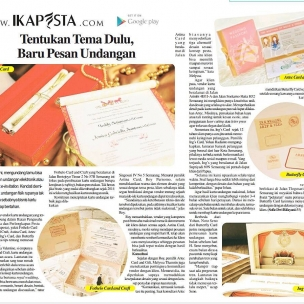 Ikapesta News with Suara merdeka. Article : Invitation  Suara merdeka , 12 Maret 2017  @ings_card @fothelocraft @astinacard @artecardinvitation #120317