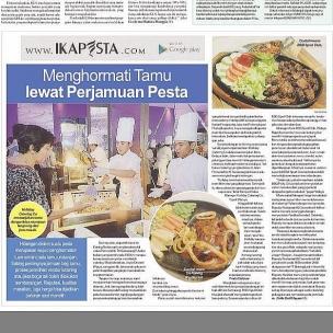 Ikapesta News with Suara merdeka. Article : Catering Suara merdeka , 26 Maret 2017  @bsblakers  http://berita.suaramerdeka.com/smcetak/menghormati-tamu-lewat-perjamuan-pesta/ #120317