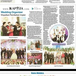 Ikapesta News with Suara merdeka. Article : Wedding Organizer Suara merdeka , 2 April 2017  @amorkurniawan1132 @bintangeos @carolkiem_beo @bess_production