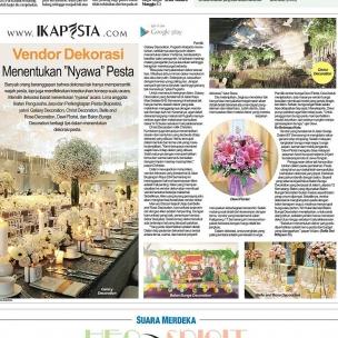 Ikapesta News with Suara merdeka. Article : Dekorasi Suara merdeka , 23 April 2017  @galaxy_decoration @chri5tdecoration @balonbunga @belleandrose