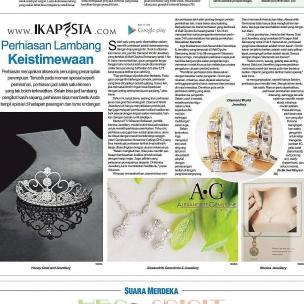 Ikapesta News with Suara merdeka. Article : Jewellery Suara merdeka , 4 Juni 2017  @honeygold_jewellery @diamond.world.jewelry