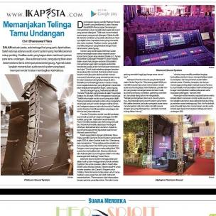 Ikapesta News with Suara merdeka. Article : Sound Sytem Suara merdeka , 9 juli 2017