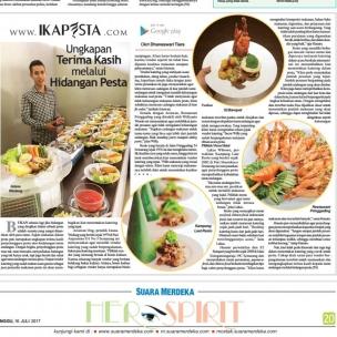 Ikapesta News with Suara merdeka. Article : Catering Suara merdeka , 16 juli 2017