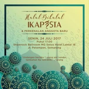 Halal bihalal Ikapesta dan Perkenalan anggota baru. Senin, 24 Juli 2017 jam 17.00 di MG Setos Semarang
