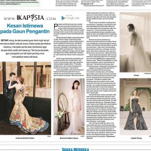 Ikapesta News with Suara merdeka. Article : Fashion Designer Suara merdeka , 23 Juli 2017  @andrestegallery @bramantawijaya @cinobicinobi @angela_chung_design