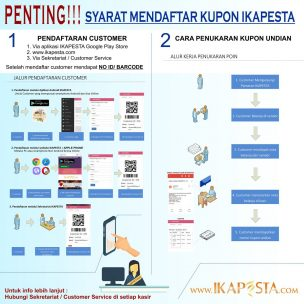 Pendaftaran Customer dan Penukaran Kupon Undian