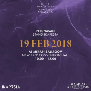 Kepada seluruh peserta pameran IKAPESTA 2018, untuk pelunasan stand pameran akan diadakan pada : Senin, 19 Februari 2018 10.00 – 12.00 Merapi ballroom, New PRPP Semarang . Please be ontime and see you#ikapesta2018