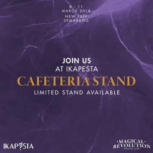 Dibuka pendaftaran stand untuk Cafetaria, diperuntukan bagi para anggota ikapesta dan non anggota . . Apabila berminat bisa langsung menghubungi via : Yenni +62 812 52333900 Angel +62 815 7601936