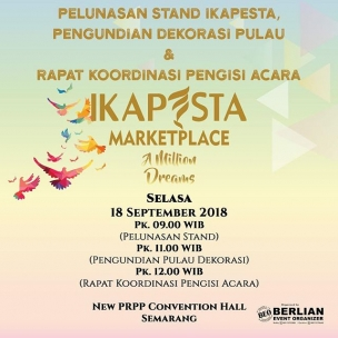 Yuk, anggota ikapesta yang ikut dalam IKAPESTA MARKETPLACE 2018 . Pelunasan stand & Pengundian Dekorasi Selasa, 18 September 2018 (revisi tanggal) New PRPP conv. Hall#ikapesta2018#ikapestamarketplace#ikapestamarketplace2018