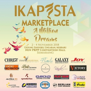 Ikapesta give a new concept and atmosphere in Ikapesta Marketplace. You can feel the different touch of Wedding Expo. And this is one of the best Expo in Central Java. . . Please save the date  And See you there, all groom and bride to be!