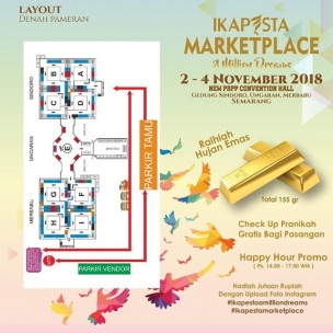 Calling all groom and bride to be . We proudly present new concept for Ikapesta. Please enjoy and happy shopping! . 2 – 4 November 2018 New PRPP Ballroom ( sindoro, ungaran, merbabu#ikapestamarketplace