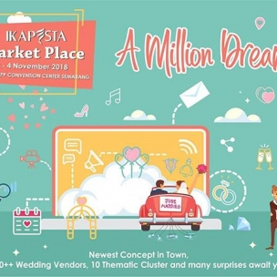 IKAPESTA Presenting The Newest Concept in Town IKAPESTA Market Place  150+ Wedding Vendors 10 Thematic Cluster 3 Days  Save The Date !! 2- 4 November 2018 PRPP Convention Center Semarang  Get your best deals here