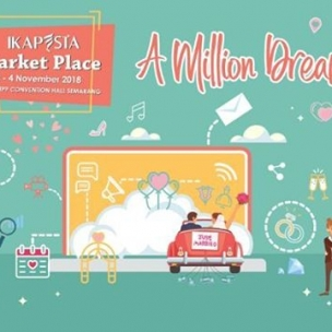 IKAPESTA  Presenting  The Newest Concept in Town  IKAPESTA Market Place  150+ Wedding Vendors  10 Thematic Cluster  3 Days  Happy Hour Promo Everyday Triple Coupon (Only 14.00-17.00 )  Save The Date  2-4 November 2018 PRPP Convention Hall Semarang  Get your best deals here