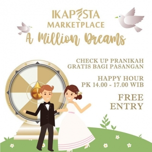 IKAPESTA presenting IKAPESTA Marketplace . 2-4 November 2018 New PRPP Convention Center Semarang . 10 thematic cluster 150+ wedding & party vendor . The newest concept in town, Find your dreams wedding, And enjoy the Deals#ikapestamarketplace#ikapestamilliondreams#ikapesta2018#semarang#weddingexpo