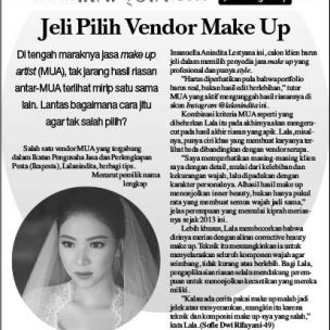 Jeli Pilih Vendor Make Up