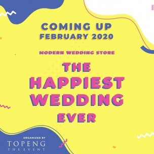 Have you felt the vibe already? Cause we have!  We will sure be coming and set up the most Modern Wedding Market, together with well known brands and vendors, just for your happiest day.  There are still 4 months to go but but we have sweat really hard to make this happen. Groove and be happy with us, lovey dovey!